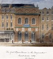 The first Opera House in the Haymarket, burnt down in 1789 - William Capon