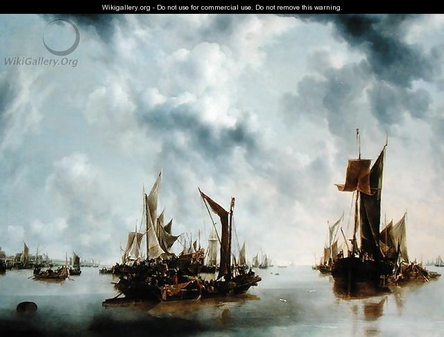 A Calm, 1654 - Jan Van De Capelle