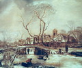 Winter Scene - Jan Van De Capelle