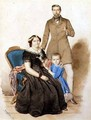 Family Portrait, 1856 - August (Agost Elek) Canzi