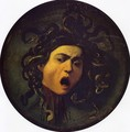 Medusa, painted on a leather jousting shield, c.1596-98 - Caravaggio