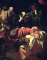 The Death of the Virgin, 1605-06 (detail) - Caravaggio