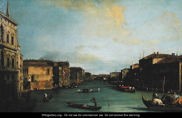View of The Grand Canal from the Rialto Bridge - (Giovanni Antonio Canal) Canaletto