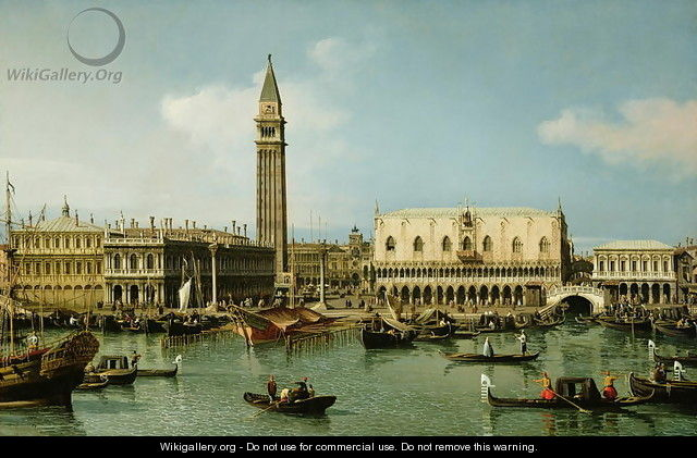 The Molo from the Bacino di San Marco, Venice, 1747-50 - (Giovanni Antonio Canal) Canaletto
