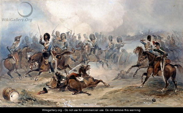 Captain Norman Ramsay, Royal Horse Artillery, Galloping his Troop Through the French Army to Safety at the Battle of Fuentes d