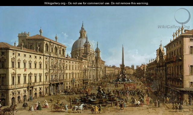 A view of Piazza Navona, Rome - (Giovanni Antonio Canal) Canaletto