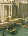 Entrance to the Grand Canal: Looking West, c.1738-42 (detail) - (Giovanni Antonio Canal) Canaletto