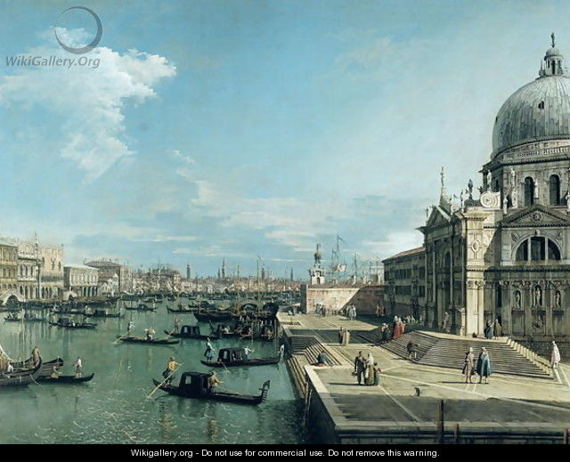The Entrance to the Grand Canal, Venice - (Giovanni Antonio Canal) Canaletto