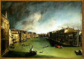 The Grand Canal, View of the Palazzo Balbi towards the Rialto Bridge, 1724 - (Giovanni Antonio Canal) Canaletto