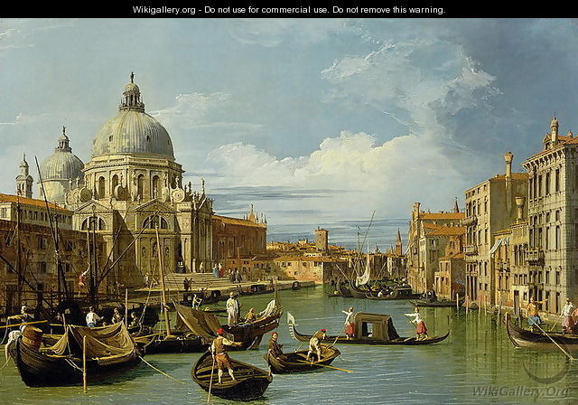The Entrance to the Grand Canal, Venice, c.1730 - (Giovanni Antonio Canal) Canaletto