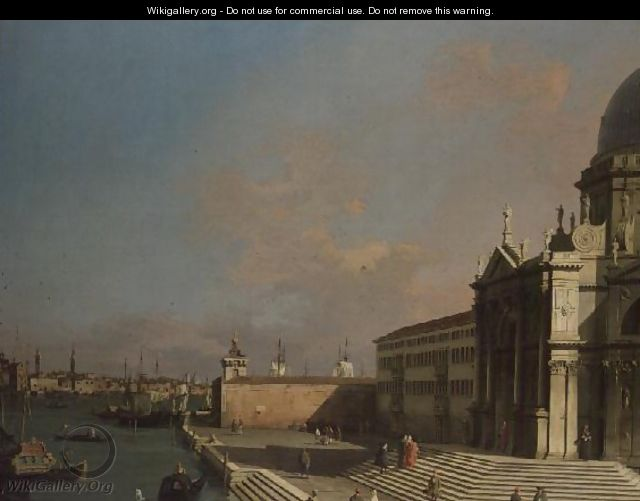 The Entrance to the Grand Canal, Venice (2) - (Giovanni Antonio Canal) Canaletto