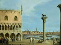 The Piazzetta di San Marco Looking South, Venice - (Giovanni Antonio Canal) Canaletto