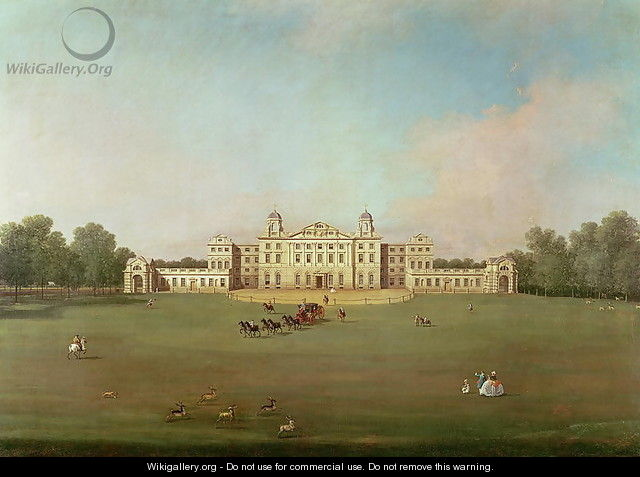 Badminton House, Gloucestershire - (Giovanni Antonio Canal) Canaletto