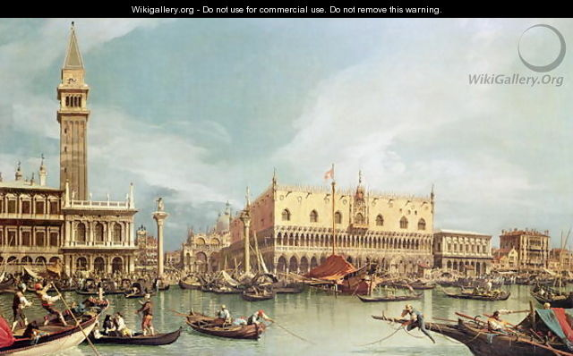 The Molo, Venice - (Giovanni Antonio Canal) Canaletto
