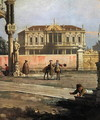 Detail of a Town House and a public square - (Giovanni Antonio Canal) Canaletto