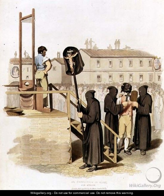 An Execution in Rome for Murder, 1820 - Richard Bridgens
