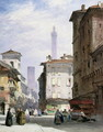 Leaning Tower, Bologna - William Callow