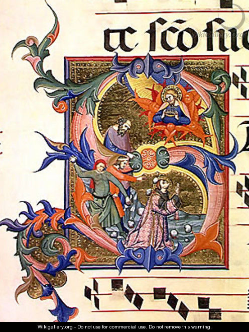 Ms 572 f.32v Historiated initial