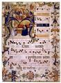 Frontispiece of a choirbook from Montoliveto Monastery, c.1390 - Don Simone Camaldolese