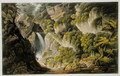 Waterfall at Shanklin, from 'The Isle of Wight Illustrated, in a Series of Coloured Views' - Frederick Calvert