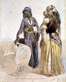 Slave and Woman from Cairo - Ippolito Caffi
