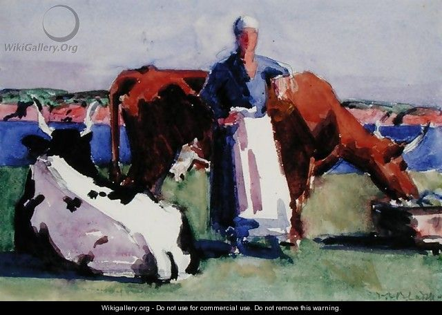 Milkmaid, Iona - Francis Campbell Boileau Cadell