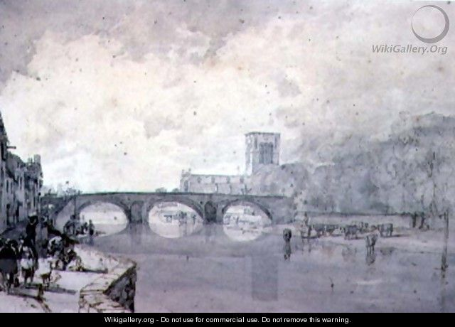 The Abbey and Nungate Bridge, Haddington, East Lothian - Sir Augustus Wall Callcott