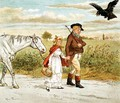 The Farmer with a bandaged head from 'A Farmer went trotting upon his grey mare' - Randolph Caldecott