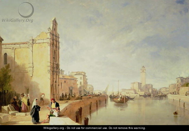 A View of Murano - Sir Augustus Wall Callcott
