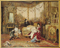 Victorien Sardou and his Family in their Drawing Room at Marly-le-Roi, c.1875 - Auguste de la Brely