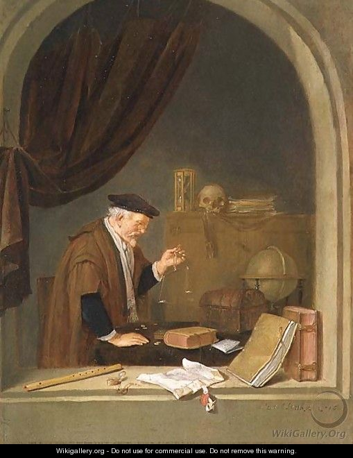 An Old Man Weighing Gold, 1667 - Quiringh Gerritsz. van Brekelenkam