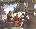 Florentine troubadours in the 14th century, 1860 - Vincenzo Cabianca
