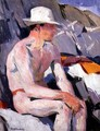 Bather in a White Hat - Francis Campbell Boileau Cadell