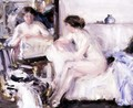 Nude Seated on a Sofa - Francis Campbell Boileau Cadell