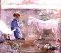 Goats Grazing - Francis Campbell Boileau Cadell