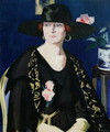 A Lady in Black and Gold - Francis Campbell Boileau Cadell