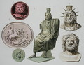 Representations of Zeus, Jupiter or Jove, plate 51 from 'Le Costume Ancien et Moderne' - G. Bramati