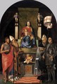 Virgin and Child Enthroned with Saints c.1510 - Giovanni Agostino Da Lodi