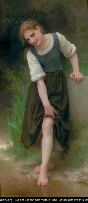 Le Gué (The Ford) - William-Adolphe Bouguereau