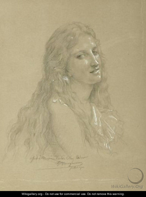 Drawing of a Woman - William-Adolphe Bouguereau