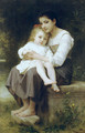 La soeur aînée (Big sis') - William-Adolphe Bouguereau