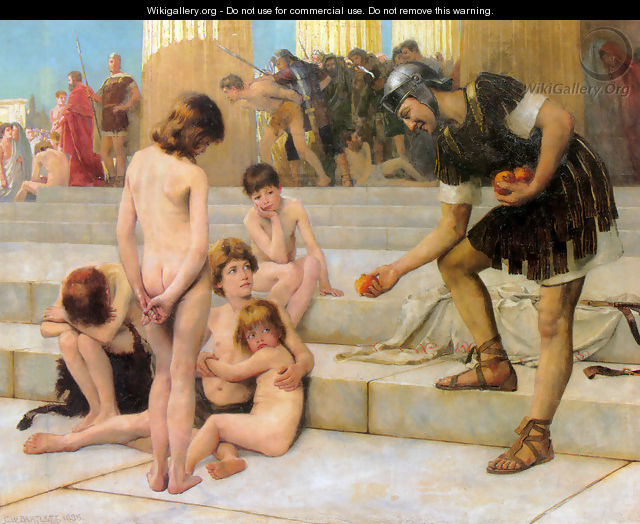 Captives in Rome - Charles William Bartlett