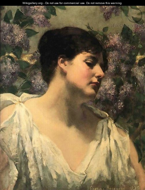 Under the Lilacs - James Carroll Beckwith