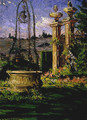 In the Gardens of the Villa Palmieri - James Carroll Beckwith