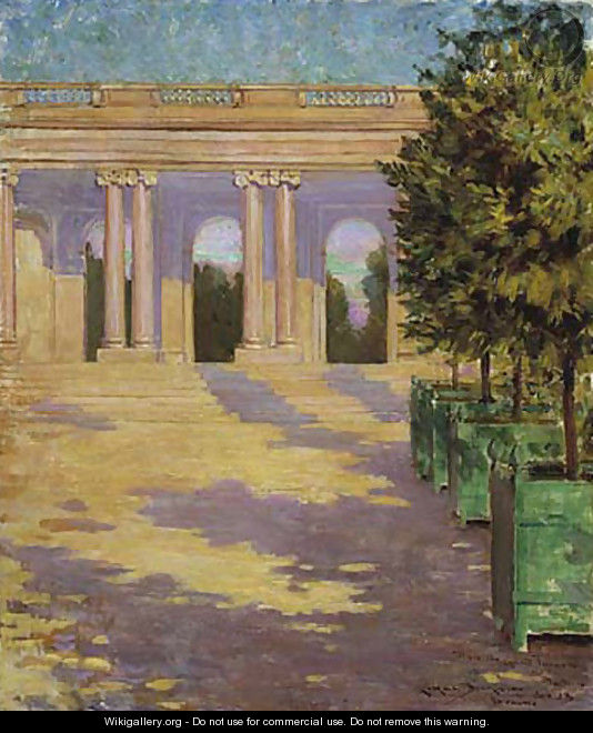 Arcade of the Grand Trianon, Versailles - James Carroll Beckwith