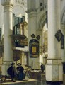 Interior of a Protestant Gothic Church - Emanuel de Witte