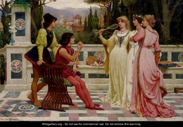 The Judgement Of Paris - Jacques-Clement Wagrez
