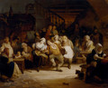 Figures In A Tavern - August De Wilde