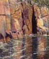 The Cliffs at Ironbound Island, Maine - John Leslie Breck