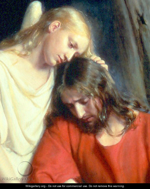 Christ at Gethsemane [detail #1] - Carl Heinrich Bloch